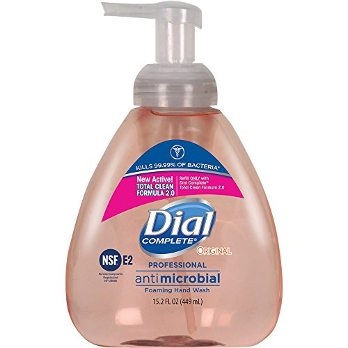 (Dial Complete 1437345 Original Professional Healthcare Antimicrobial Foaming Hand Soap with Tabletop Pump, 15.2oz Bottle (Pack of 4))