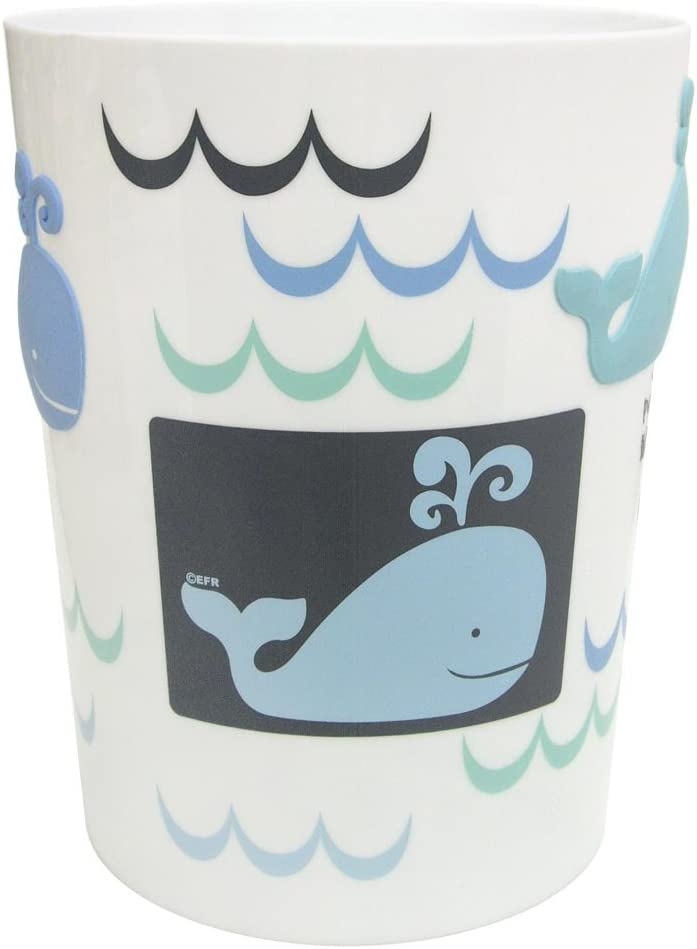 Allure Home Creations Whale Watch Printed Plastic Wastebasket
