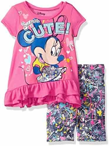 Disney Toddler Girls' Minnie Mouse Bike Short Set