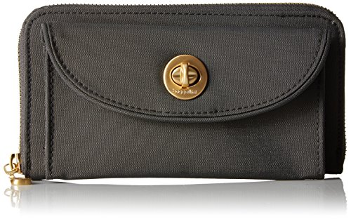 Baggallini Gold International Kyoto Rfid CHR Wallet, Charcoal, One Size ()