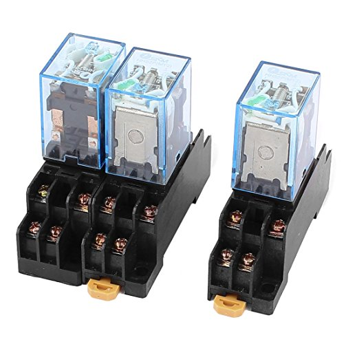 24v Relay (uxcell 3Pcs HH52P DC 24V Coil Voltage 8Pin DPDT Power Electromagnetic Relay w Socket)