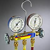Yellow Jacket 42715 Series 41 Manifold with 2-1/2'' Gauge, bar/psi, R-410A