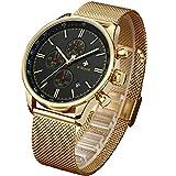 WWOOR Store Men's Watch Fashion Luxury Analog Quartz Watches with Date Stainless Steel