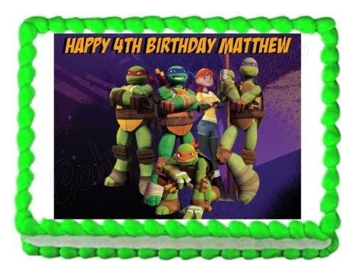 TMNT Teenage Mutant Ninja Turtles party edible cake sheet frosting cake topper]()
