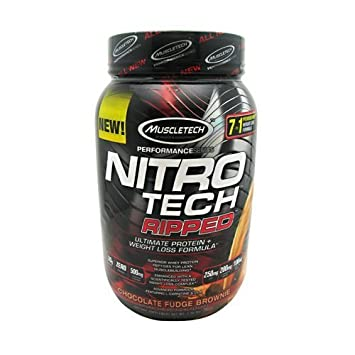 MuscleTech Performance Series Nitro Tech Ripped – Chocolate Fudge Brownie – 2 lbs