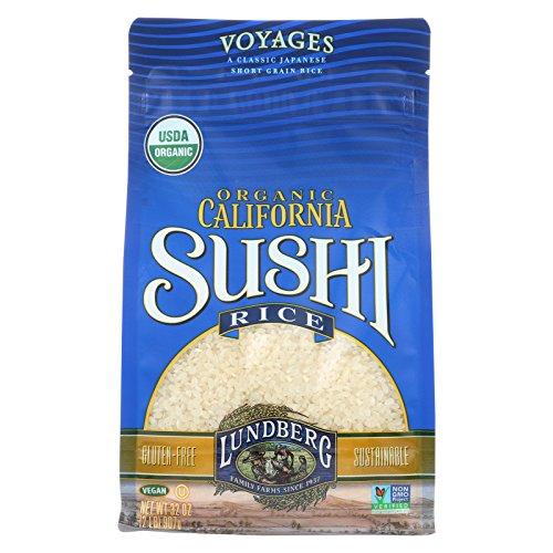 Lundberg Family Farms Organic Sushi White Rice - Case of 6 - 2 lb. by Lundberg
