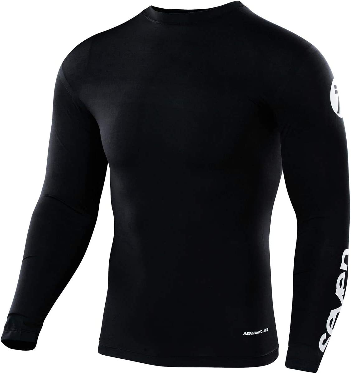 White, S Seven Mens Zero Staple Compression Jersey