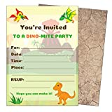 Dinosaur Birthday Party Invitations-Dino Invitations-Kids Dinosaur Party Invitations for Dinosaur Party Supplies-Theme-Decorations-Boys or Girls-Dino Invites-Large 5x7-with Envelopes-25 Count