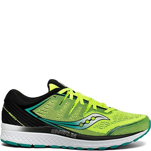 (Saucony Men's Guide ISO 2 Running Shoe, Citron/Black, 11.5 M US)