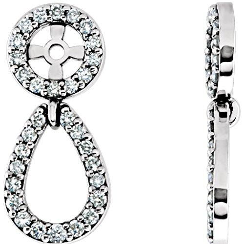 (Platinum 1/3 CTW Diamond Earring Jackets)