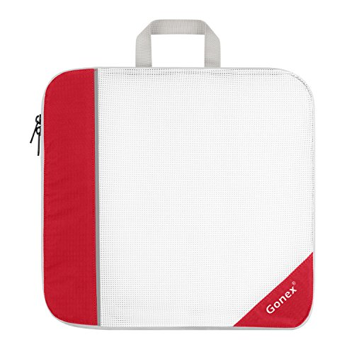 (Gonex Packing Cube, Extensible Storage Mesh Bag Travel Organizer Large Red)