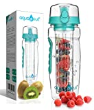Best Infuser Water Bottles - AquaFrut 32oz Fruit Infuser Water Bottle (Teal) Review