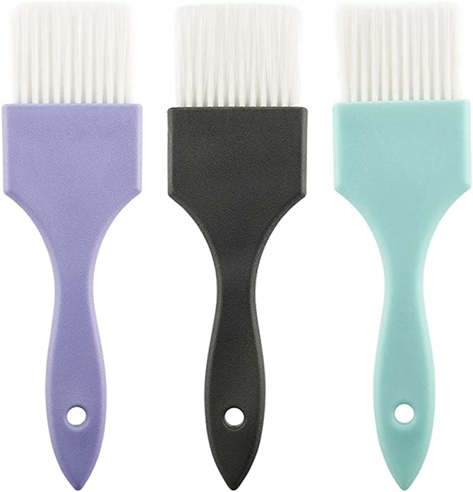 Minkissy Juego de 3 Pinceles de Color de Tinte para El Cabello Color Tinte Pinceles Peines Peines Profesionales para El Cabello Balayage Herramienta ...