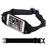 EOTW Running Belt iPhone 6/6S Plus,Cell Phone Sport Waist pack Touch Screen for Huawei P8,P8 Lite,P9,P9 Lite Plus,Samsung Galaxy S7,S7 edge,S6 Edge Plus,LG 5,4,3,2 Running jogging Walking Hiking - 5.5 inch Black