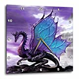 Cheap 3dRose dpp_4144_1 Fairytale Dragon Wall Clock, 10 by 10-Inch