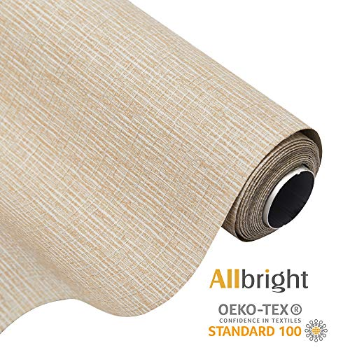 ALLBRIGHT 100%Blackout Manual Roller Shades for Windows, UV Protection, Thermal Insulated Blackout Shades, Oeko_TEX Standard 100, 23″ Wx 83″ H, Natural