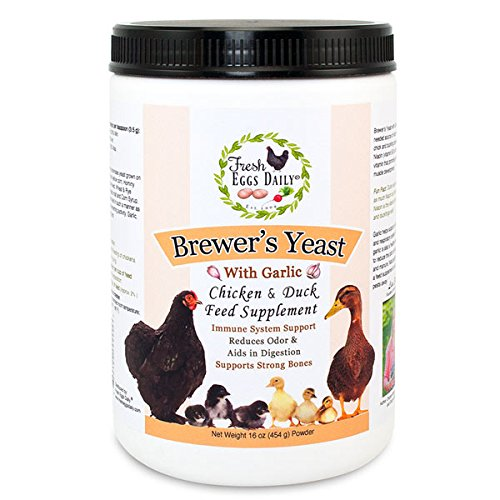 Fresh Eggs Daily Brewer's Yeast with Garlic Powder Chicken & Duck Feed Supplement 1LB