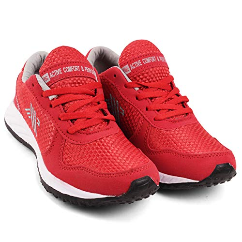 AIRDRON Omega Men's Sports Shoes for Running, Walking, Traning, Gym Red