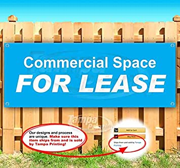 and displays See Also Flags Commercial Property for Lease Banner is a 13 oz Premium Heavy Weight Vinyl Banner Sign with Metal Grommets for Store or Other Advertising in New Condition