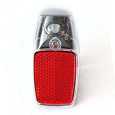 Red 1 LED Light Back with Reflector Plastic Shell Easy to Install on the Mudguard of the Bike Suitable for Any Bike for Safety Warning