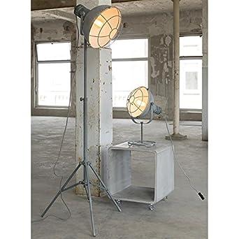 Stehlampe Standleuchte Source Wohnzimmerlampe Industrie Design Industrial Vintage Grau