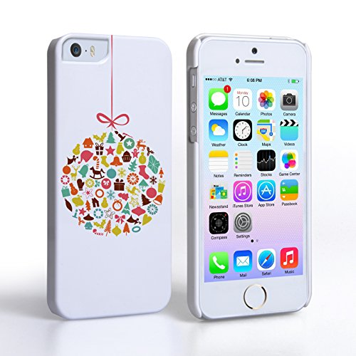 Caseflex iPhone 5 / 5s Case Christmas Bauble Decorations Hard Cover