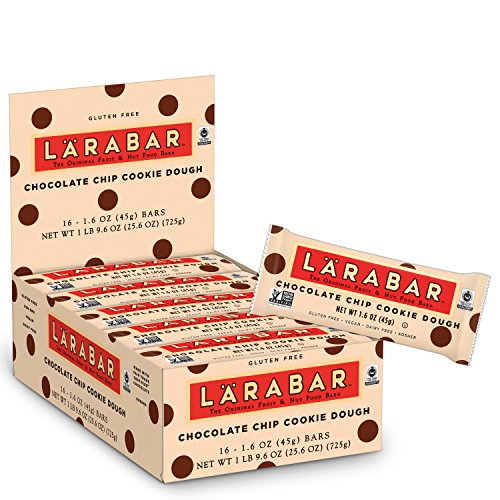 Larabar Gluten Free Bar, Chocolate Chip Cookie Dough, 1.6 oz Bars (16 Count)