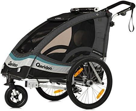 Qeridoo Sportrex1 - Carrito-remolque de bicicleta 2 en 1 para ...