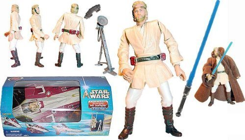 (Star Wars Attack of the Clones (AOTC) Obi-Wan's Jedi Starfighter with Obi-Wan Pilot Figure Included - The cool ship!)