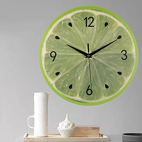 Yamart Watches Silent Sweep Modern Elegant Fruit Creative Digital Clock Home Decoration Gift Home Garden Kitchen Accessories Watches Alarm Electronic