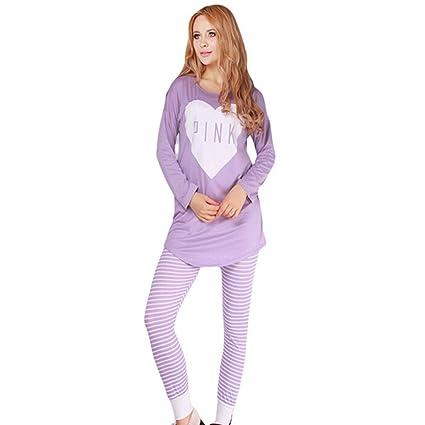 SALICEHB Moda Otoño Invierno Pijamas De Las Mujeres Establece Mujeres Ropa De Algodón Dulce Mujer Dama