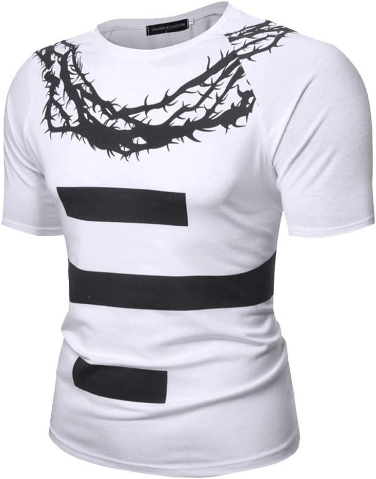 Camisetas de Hombre Moda Manga Corta Bloque de Color Patchwork Slim Fit Casual Slim Fit Blusa Cuello de Solapa Camisas Camisa Negra Rayas Hombre Chaleco Sobrecamisa Hombre Jodier: Amazon.es: Deportes y aire