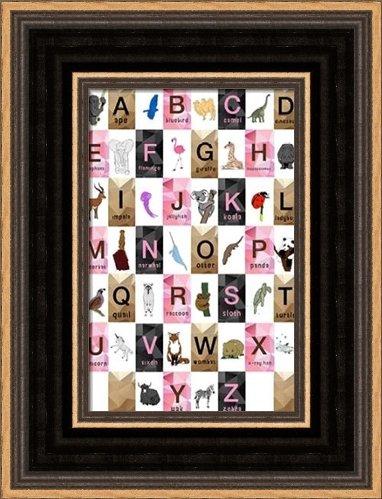 .com: alphabet - girls - framed art print - 4x6 fine art print ...
