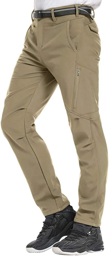Womens Snow Fleece-Lined Soft Shell Insulated Waterproof Pants Tactical Winter Hiking,Camping,Travel