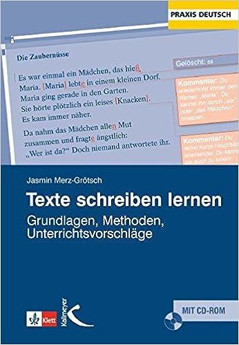 Texte Schreiben Lernen Amazonde Jasmin Merz Grötsch Bücher