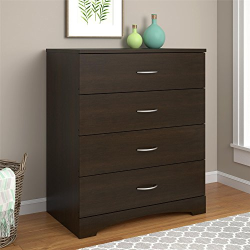 Ameriwood Home Crescent Point 4 Drawer Dresser, Espresso
