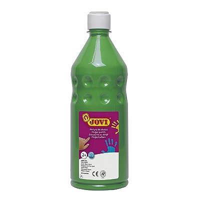 Jovi - Botella de Pintura Dedos, 750 ml, Color Verde (56217): Juguetes y juegos