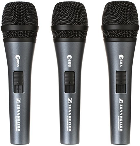 Sennheiser e835 S Live Vocal Microphone with On/Off Switch - 3-pack by Sennheiser