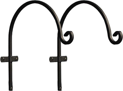 Selections - Juego de 2 ganchos para colgar cestas de jardín (30 cm), diseño de forja de metal: Amazon.es: Jardín