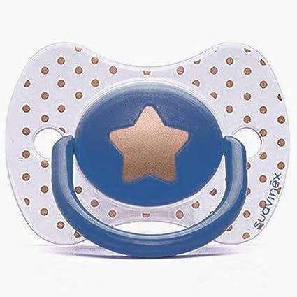Chupete SUAVINEX Fisiologico silicona + 12 M Haute Couture estrella ...
