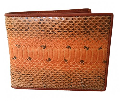 Authentic Snake Authentic Bifold Tan Skin Snake Men's Python Wallet Snake gBSw4P