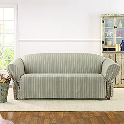 Sure Fit Grain Sack Stripe Sofa Slipcover