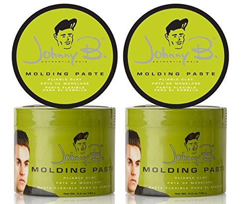 Johnny B. Authentic Haircare Molding Paste for Men, 4.5 Ounce 2 Pack