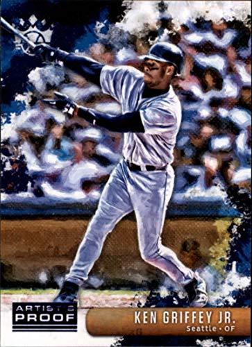 2019 Panini Diamond Kings Artist Proof Blue #113 Ken Griffey Jr. SP Short Print Seattle Mariners Baseball Trading Card