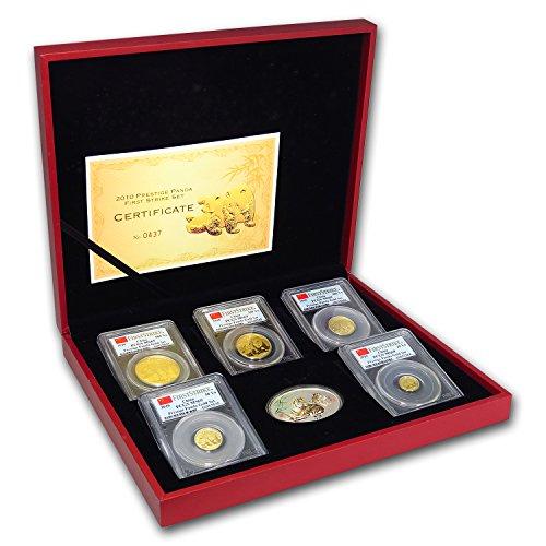 CN 2010 China 5-Coin Gold Panda Prestige Set MS-69 PCGS (FS) MS-69 -