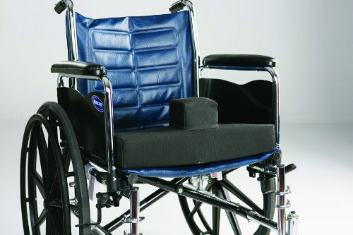 Secure SCPC-1 Wedge Pommel High Density Foam Wheelchair Cushion with Safety Strap - Convex Bottom for Sling Style Seat - Low Profile Pommel for Comfort & Ease of Patient Transfer by Secure