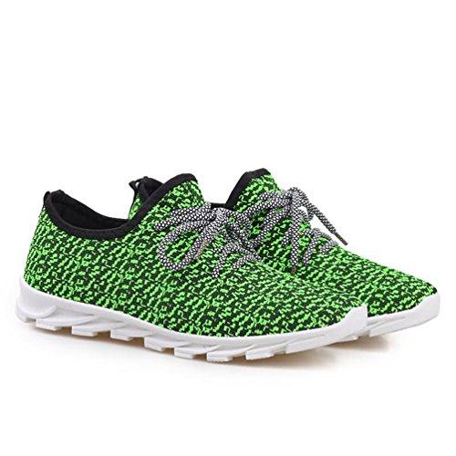 Nieuwe Heren Sneakers Sportschoenen Ademende Loopschoenen Casual Sportschoenen Groen
