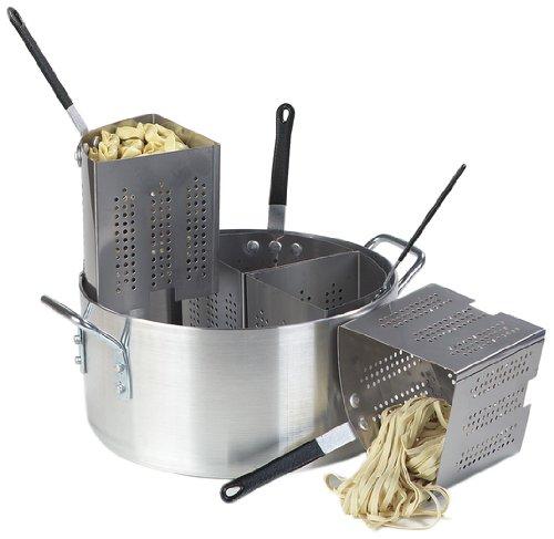 Carlisle 60100PC Aluminum 3003 Quarter Size Sectional Pasta Cooker, 14.38'' Dia. x 7'' H, 20 qt Capacity by Carlisle (Image #1)