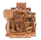 My Caring Cross Olive Wood Nativity Sets - Handcrafted and Elegant, Intricately Designed and Detailed (Small)