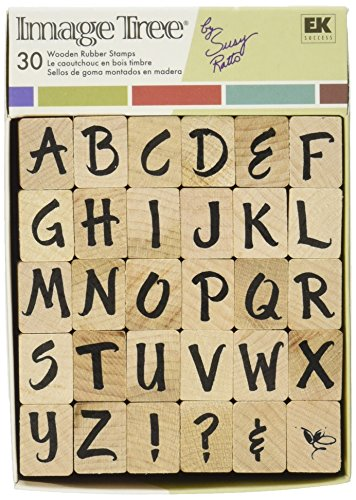 Image Tree Stamp (EK Success Image Tree Wood Handle Rubber Stamp Set, Susy Ratto Brush Letter Alphabet/Upper)